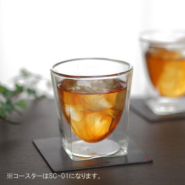 ティー 紅茶 接客 コースター rayes レイエスダブルウォールグラス
