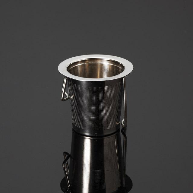 ティーストレーナー 茶こし 折り畳み rayes レイエス スクエア ダブルウォールグラス