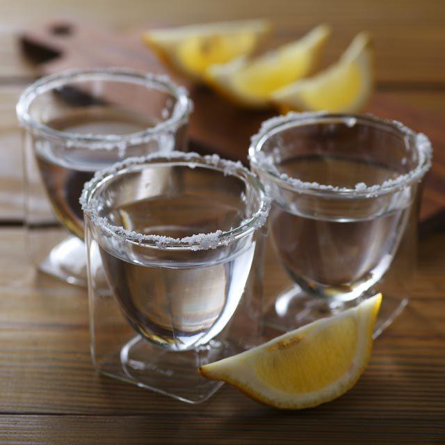 テキーラ 塩 レモン ショットグラス rayes レイエス ダブルウォールグラス