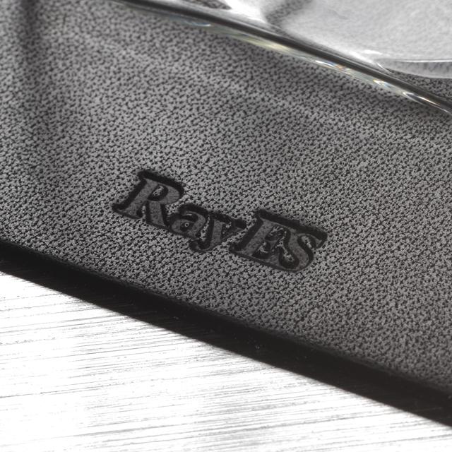 栃木レザー 天然本革 コースター ロゴ  rayes レイエスダブルウォールグラス