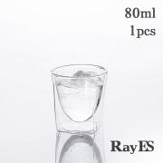 日本酒 エスプレッソ テキーラ ショット 80ml rayes レイエス ダブルウォールグラス