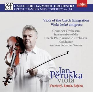 「他国へ移住したチェコの作曲家たちのヴィオラ協奏曲集」〜ヴラニツキー、ベンダ、レイハ