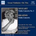 ブラームス/ヴァイオリン協奏曲、モーツァルト/ヴァイオリン協奏曲第3番