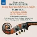 ホフマイスター/コントラバス四重奏曲第2〜4番、シューベルト/アルペジョーネ・ソナタ