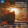 「男声合唱と管弦楽のための合唱曲集」~シベリウス、ブルックナー、シューベルト、ワーグナーほか