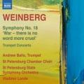 ワインベルク/交響曲第18番 「戦争、これより惨い言葉はない」 、トランペット協奏曲第1番