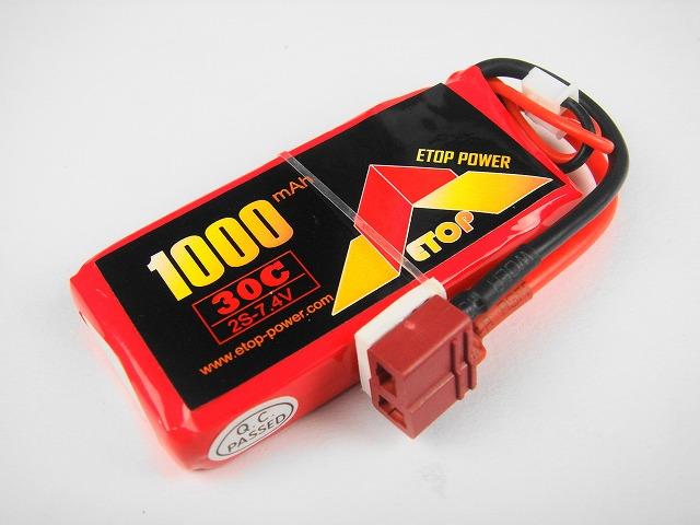 Lipo 2S-1000mAh(30C) E−Top Power