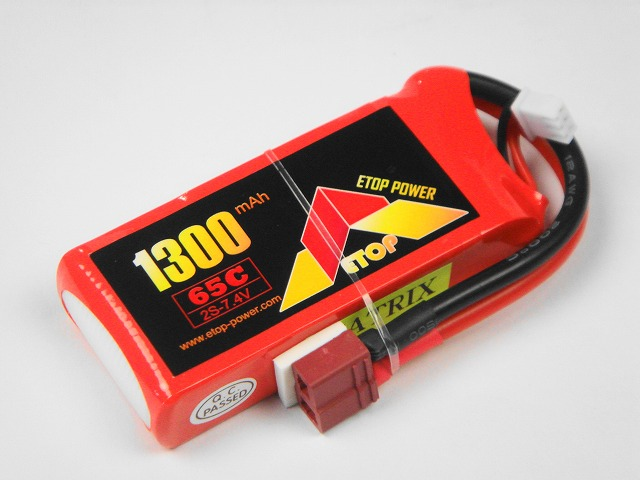 Lipo 2S-1300mAh(65C) E−Top Power