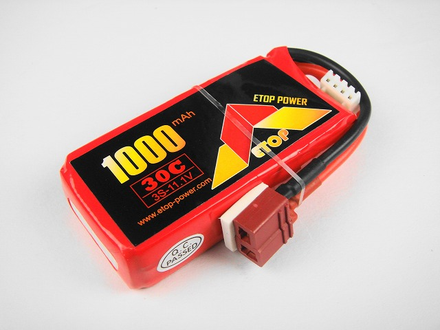 Lipo 3S-1000mAh(30C) E−Top Power