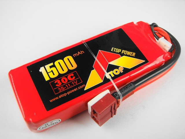 Lipo 3S-1500mAh(30C) E−Top Power