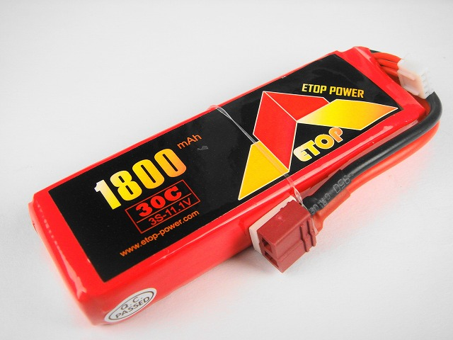 Lipo 3S-1800mAh(30C) E−Top Power