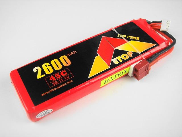 Lipo 3S-2600mAh(45C) E−Top Power