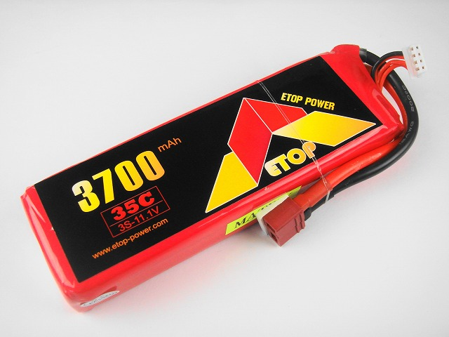 Lipo 3S-3700mAh(35C) E−Top Power