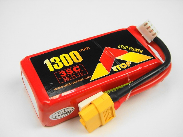 Lipo 3S-1300mAh(35C) XT60付き-E-Top Power