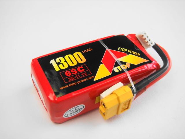 Lipo 3Sー1300mAh(65C)XT60-E−Top Power