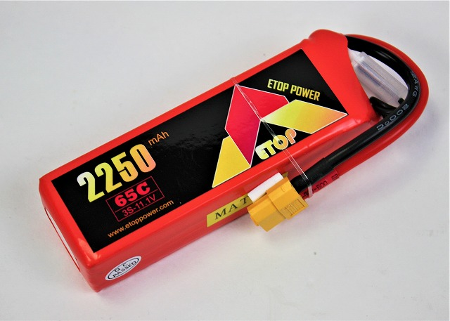 Lipo 3S-2250mAh(65C) XT60付き E-Top Power