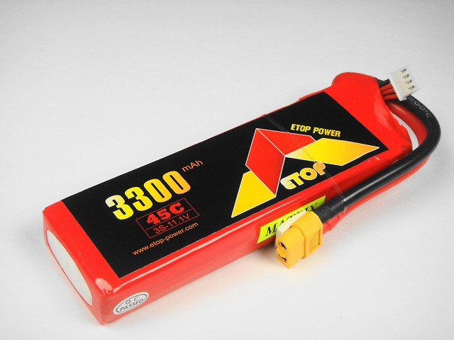 Lipo 3S-3300mAh(45C) XT60付き E−Top Power