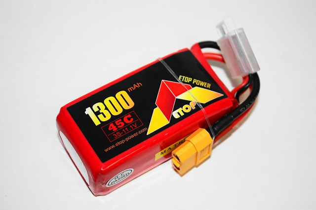 Lipo 3Sー1300mAh(45C)XT60-E-Top Power