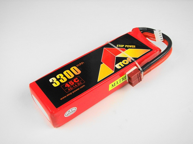 Lipo 4Sー3300mAh(45C) E−Top Power