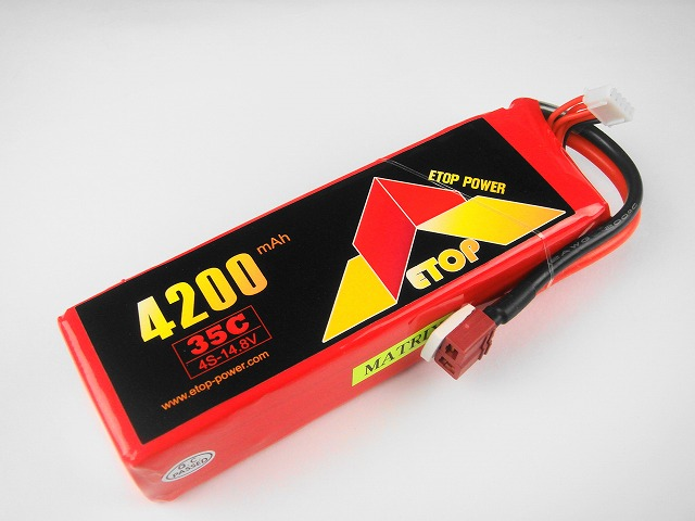 Lipo 4Sー4200mAh(35C) E−Top Power