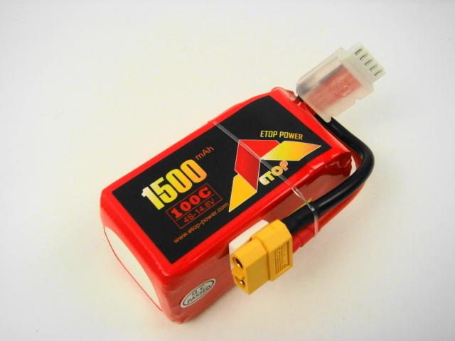Lipo 4Sー1500mAh(100C)XT60 E-Top Power