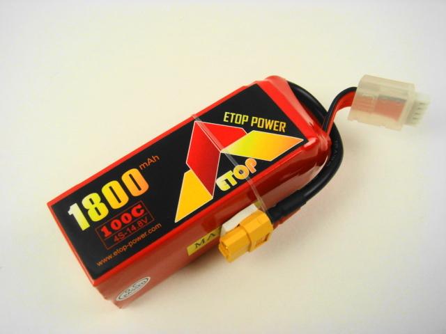 Lipo 4Sー1800mAh(100C) E-Top Power