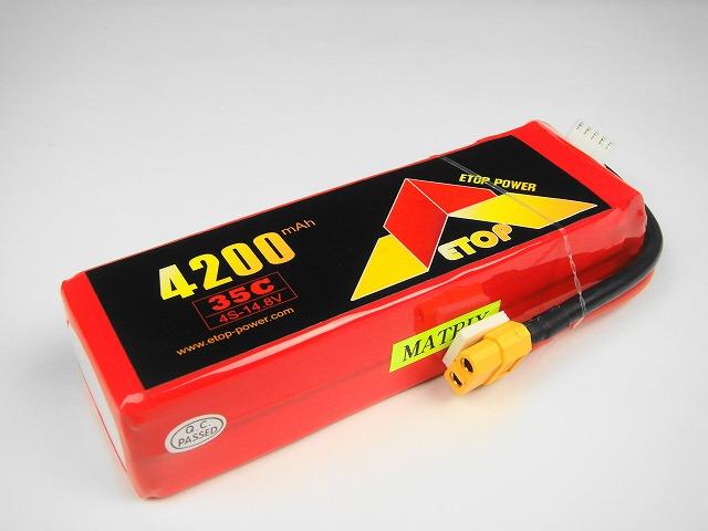 Lipo 4Sー4200mAh(35C)XT60付き E−Top Power