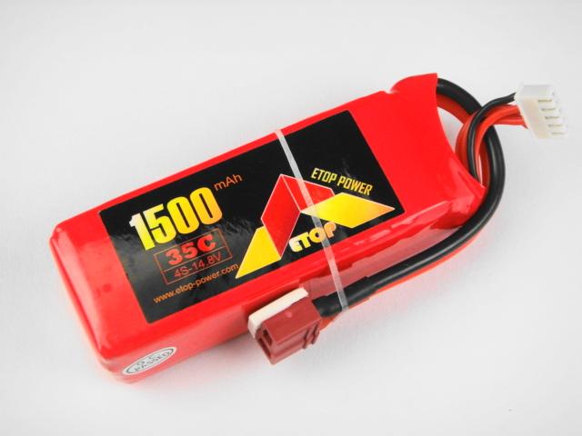 Lipo 4Sー1500mAh(35C) E-Top Power