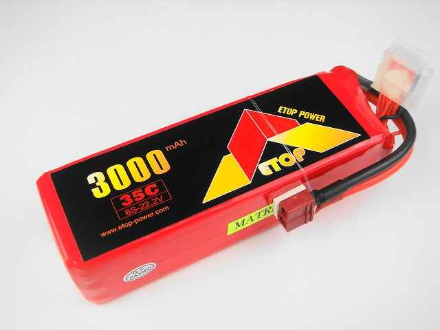 Lipo 6Sー3000mAh(35C) E−Top Power