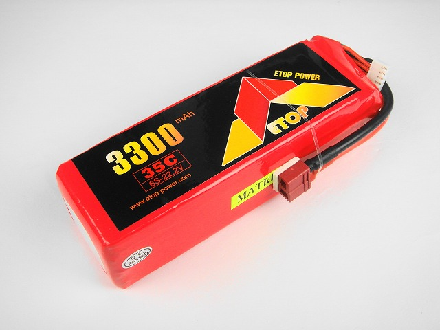 Lipo 6Sー3300mAh(35C) E−Top Power