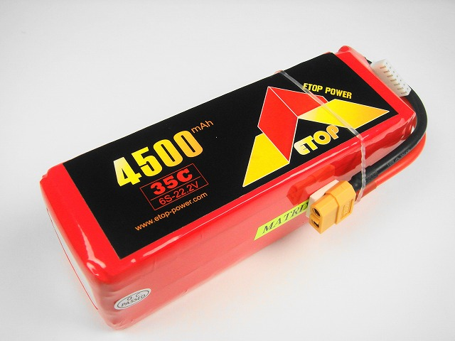 Lipo 6Sー4500mAh(35C) XT60付き,E−Top Power