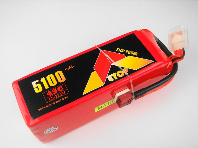 Lipo 6Sー5100mAh(45C) T型 E−Top Power