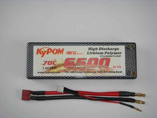 カー用Lipo 7.4Vー6500mAh(70C)