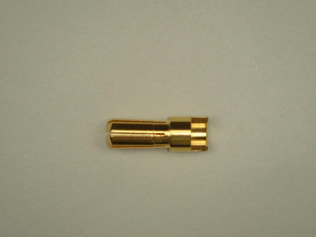 4mmゴールドコネクター(オス)先割れタイプ