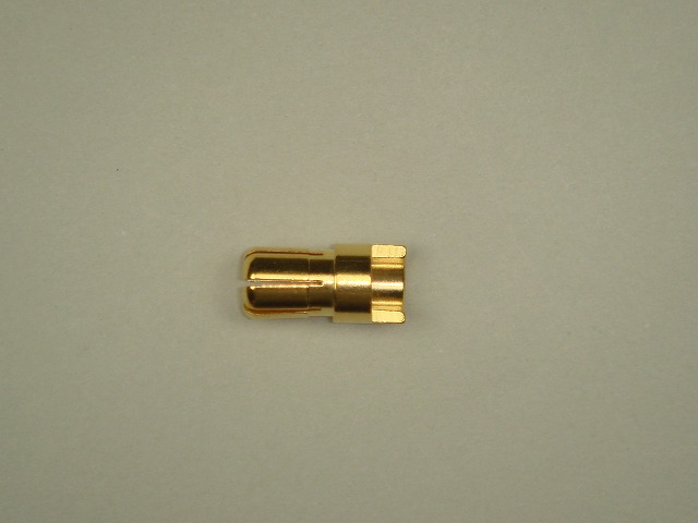 6mmゴールドコネクター(オス)先割れタイプ