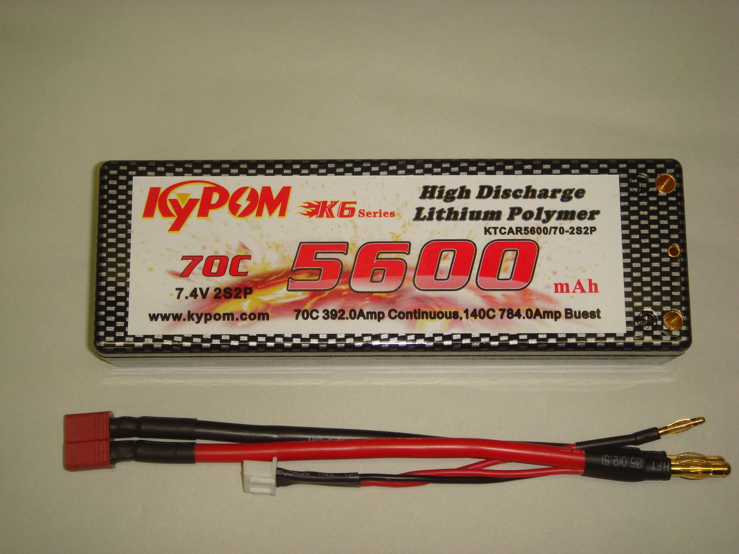 カー用Lipo 7.4Vー5600mAh(70C)
