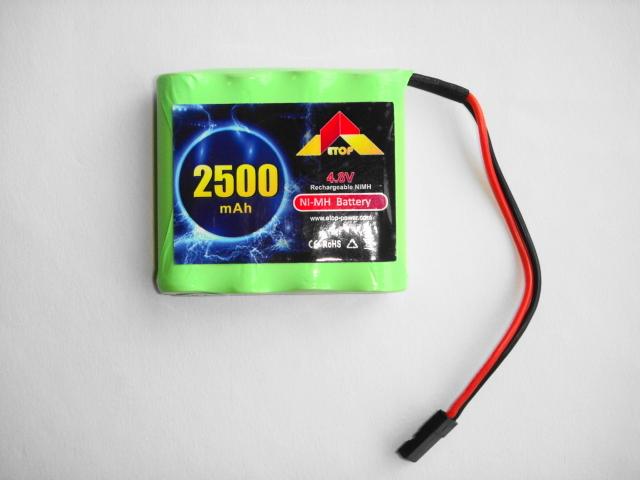 Ni-MHニッケル水素4.8V-2500mAh受信機用バッテリー
