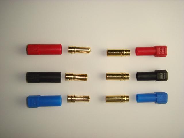 XT150:コネクター(6mm)3色セット