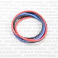 イーグル #980 シリコン銀コードセット・12ゲージ(60cmコード赤、黒、青、3本セット)