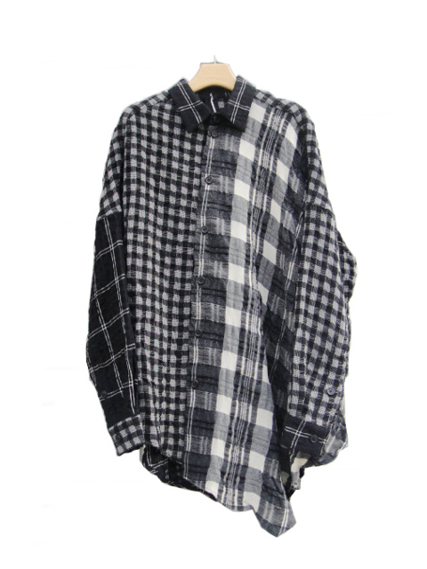 ≪New Arrival≫[送料無料]FORME D' EXPRESSION/PATCHED OVERSIZED BLOUSE.  [31-182-0006]