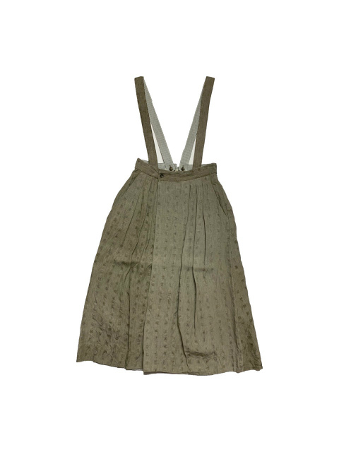 ≪New Arrival≫FORME D' EXPRESSION/WRAP SKIRT WITH SUSPENDER [33-211-0001]