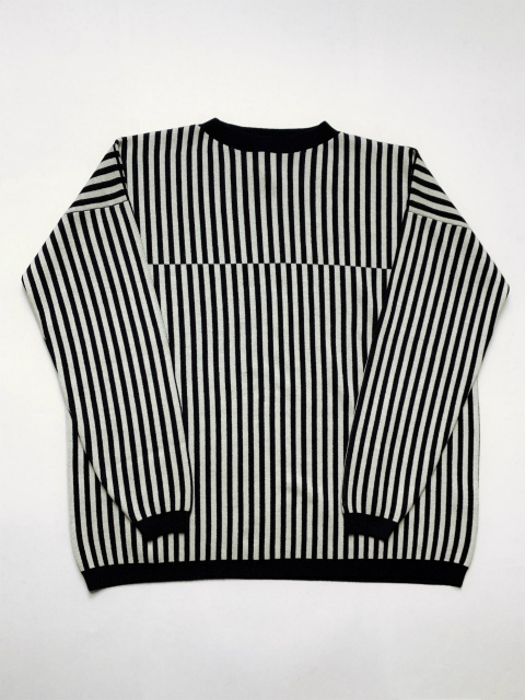 【SALE 30%OFF】SALA LANZI/STRIPED JACQARD JUMPER[36-192-0003]