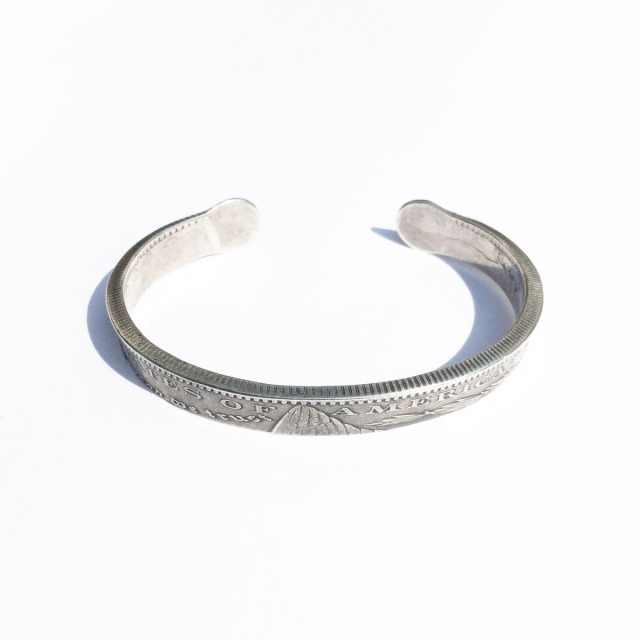 [送料無料]NORTHWORKS/ノースワークス/Morgan Dollar End Shell&Turquoise Bangle. [N313]