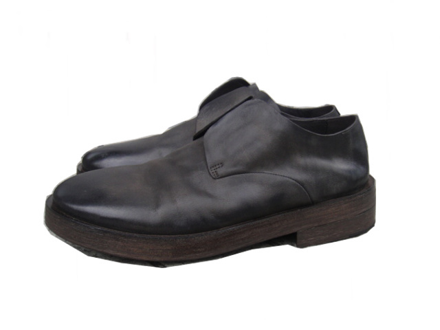 [送料無料]Marsell/マルセル/P-TOE NOSHOELACE SHOES.[MM2755] [25-182-0002]