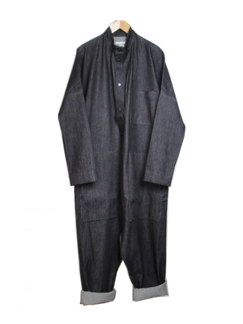 ≪New Arrival≫[送料無料]バーバラ アラン/BARBARAALAN/WOOL DENIM ALL IN ONE. [44-182-0001]