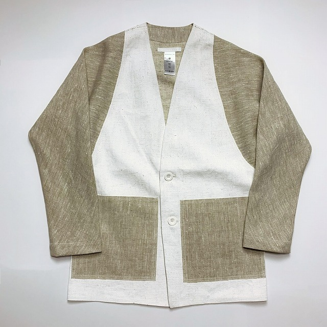≪New Arrival≫[送料無料]BARBARA ALAN/COATED LINEN CIRCEL SLEEVE JKT [37-191-0002]