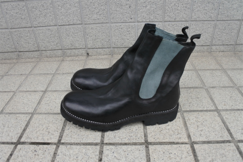 ≪New Arrival≫GUIDI/グイディ/72VX/HORSE FULL GRAIN, LINED CHELSEA BOOTS, SOLE RUBBER  [25-212-0001]