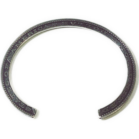 [送料無料]NORTHWORKS/ノースワークス/Edge of the 1$ coin Bracelet. [N514]