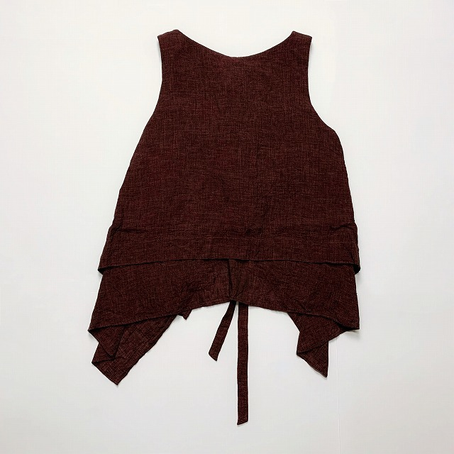 ≪New Arrival≫[送料無料]FORME D' EXPRESSION/LAYERED APRON TOP [31-191-0010]
