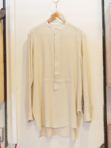 【SALE 30%OFF】SYNGMAN CUCALA/MAO COLLAR LONG SHIRT ON VISCOSE AND COLD WOOL. [31-161-0001]
